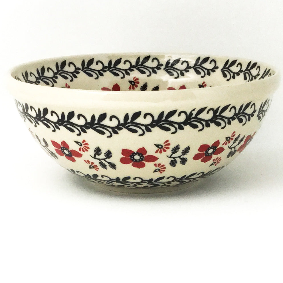Round Bowl 32 oz in Red & Black