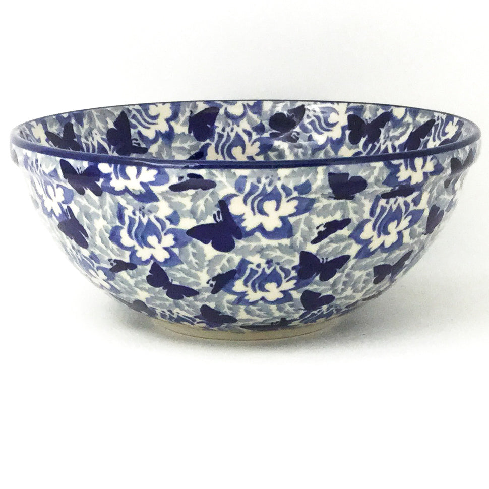Round Bowl 32 oz in Blue Buttertfly