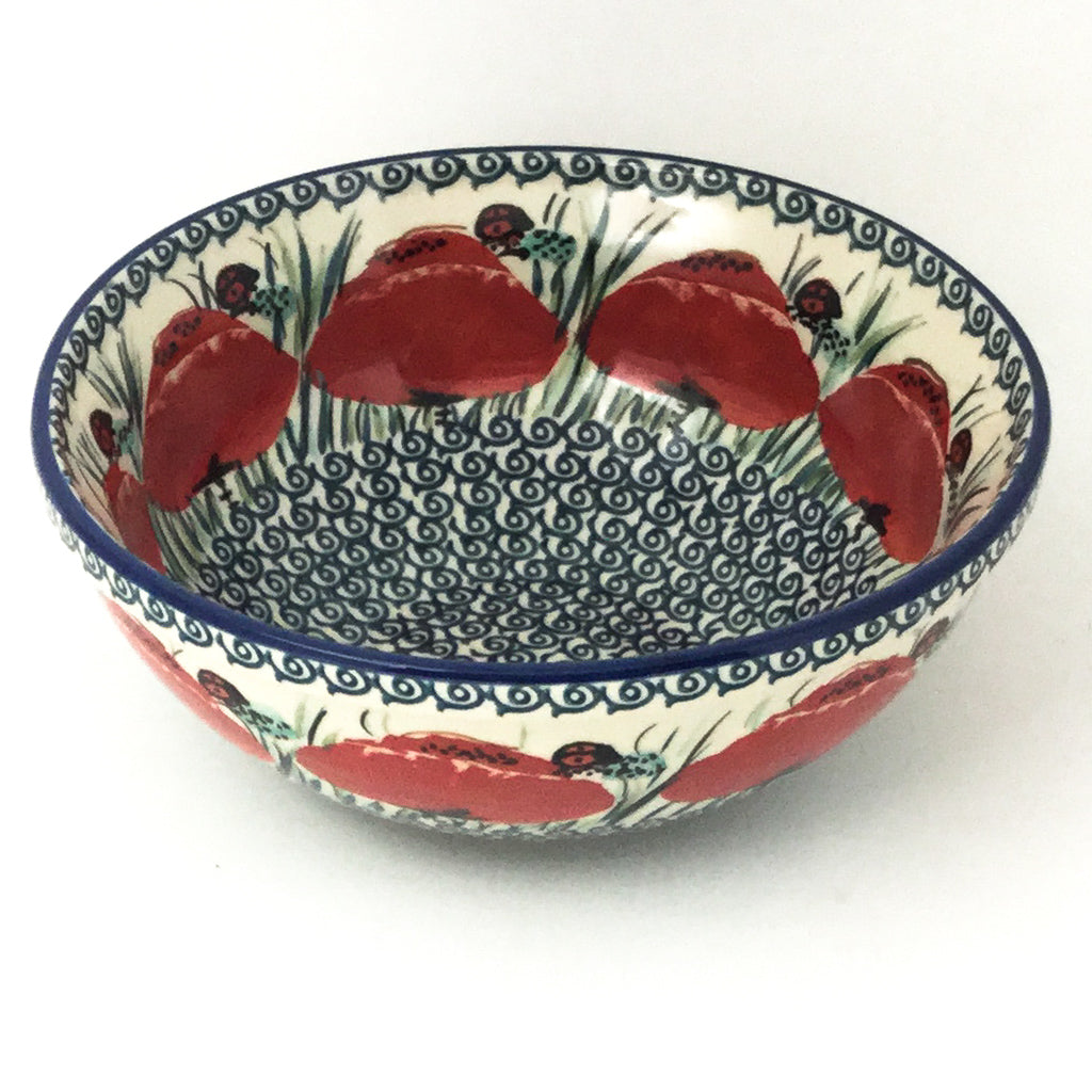 Round Bowl 32 oz in Polish Poppy