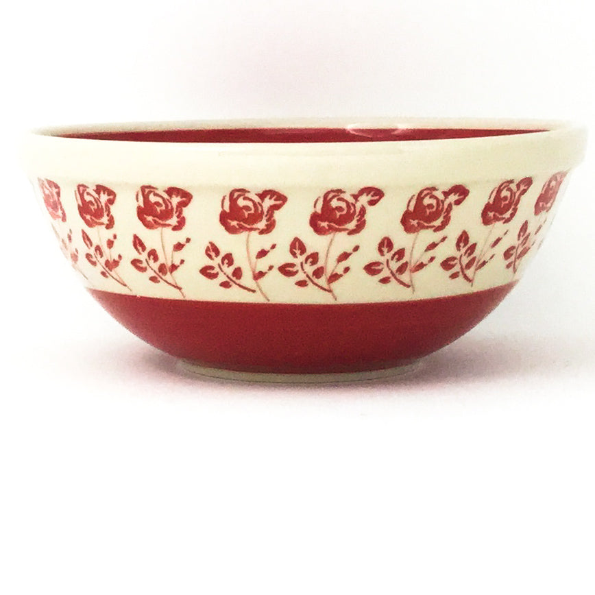 New Soup Bowl 20 oz in Red Rose