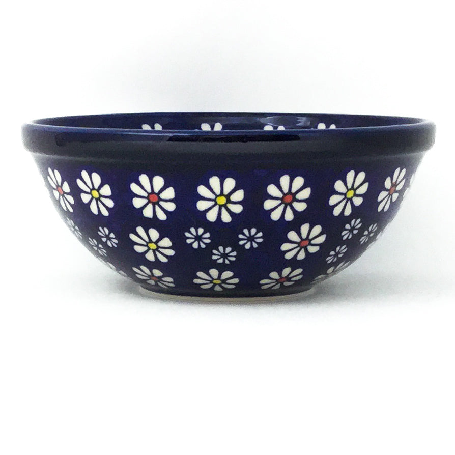 New Soup Bowl 24 oz in Flowers on Blue