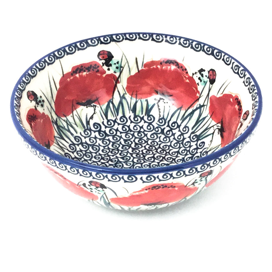 New Soup Bowl 20 oz in Polish Poppy