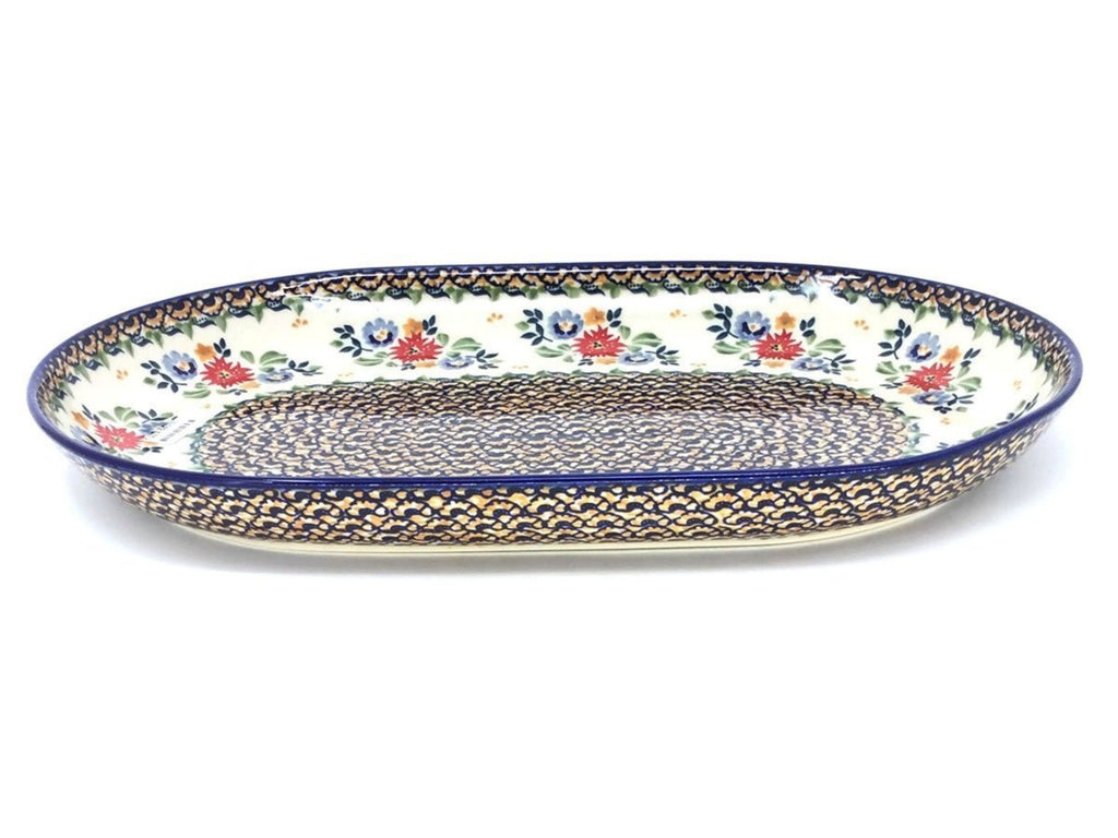 Polish Pottery Lg Oval Platter in Late Spring Late Spring