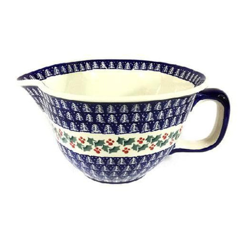Polish Pottery Batter Bowl 64 oz