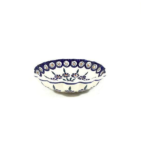 "Polish Pottery Shell Bowl 6"" (M-100T) Peacock"