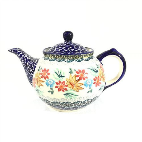 Polish Pottery Morning Teapot 21 oz (CS-16) Late Fall