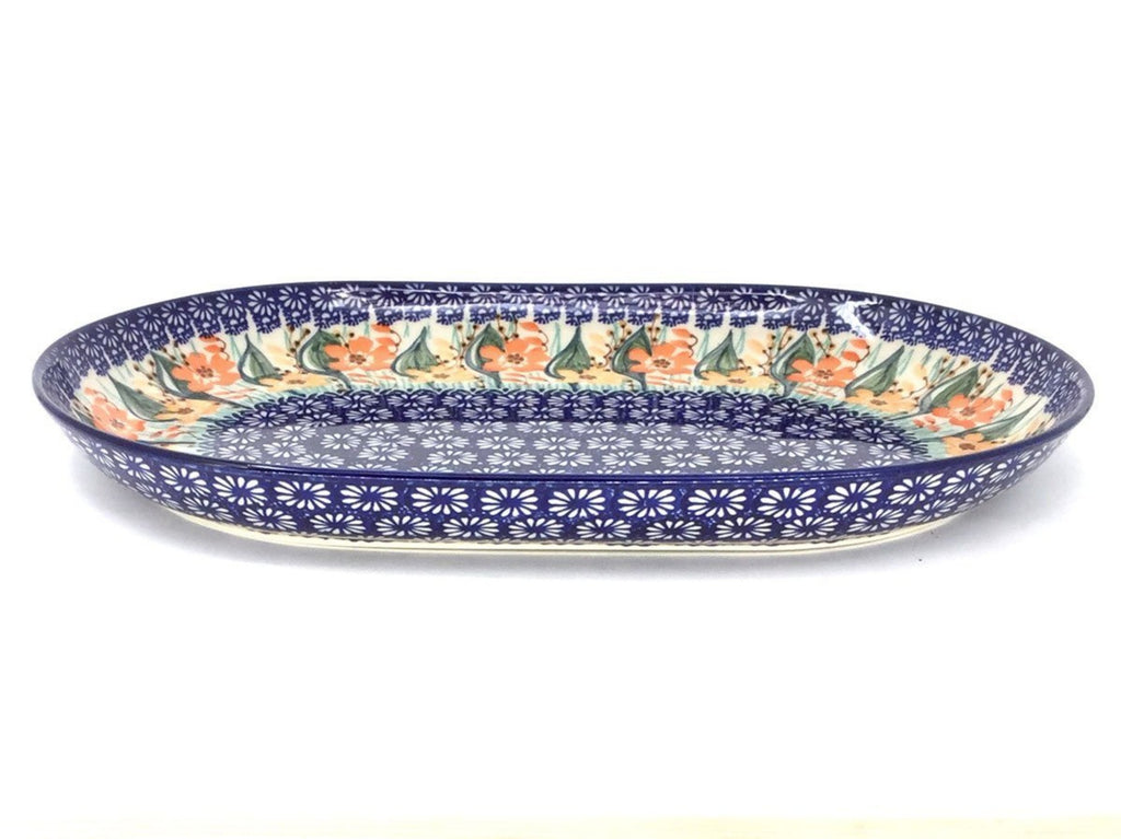 Polish Pottery Lg Oval Platter in Sunshine Meadow Sunshine Meadow