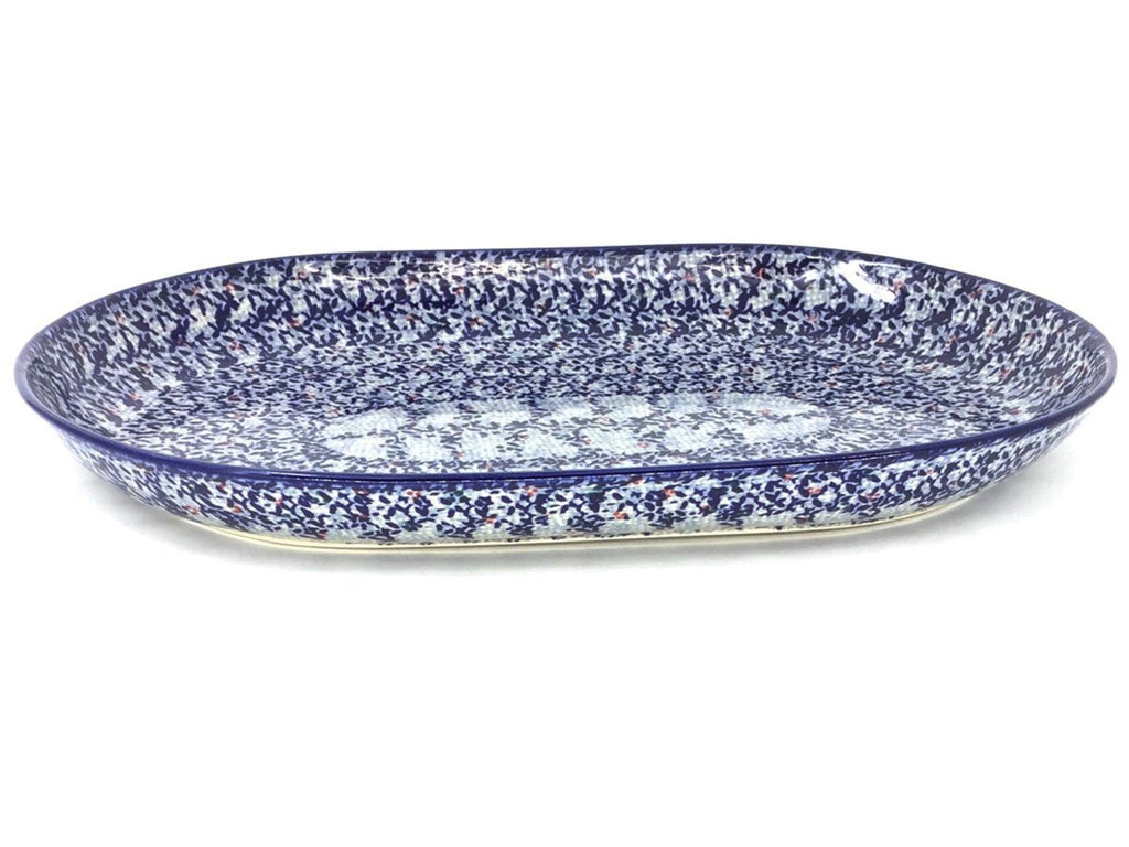 Polish Pottery Lg Oval Platter in Secret Garden Secret Garden