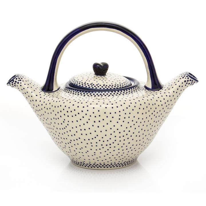 Polish Pottery Green Tea Teapot 1.5 qt in Simple Elegance Simple Elegance