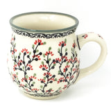 Polish Pottery Gentlemen's Cup 16 oz (K-068S) Japanese Cherry