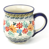 Polish Pottery Gentlemen's Cup 16 oz (K-068S) Late Fall