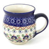 Polish Pottery Gentlemen's Cup 16 oz (K-068S) Forget-Me-Not