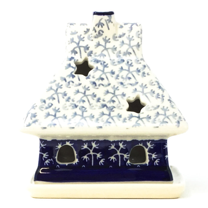 House Tea Candle Holder in Light & Dark Snowflake