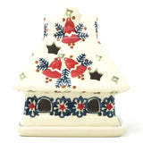 House Tea Candle Holder in Christmas Bells