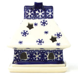 House Tea Candle in Snowflake Pattern