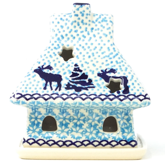 House Tea Candle Holder in Winter Moose