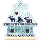 House Tea Candle in Winter Moose Pattern