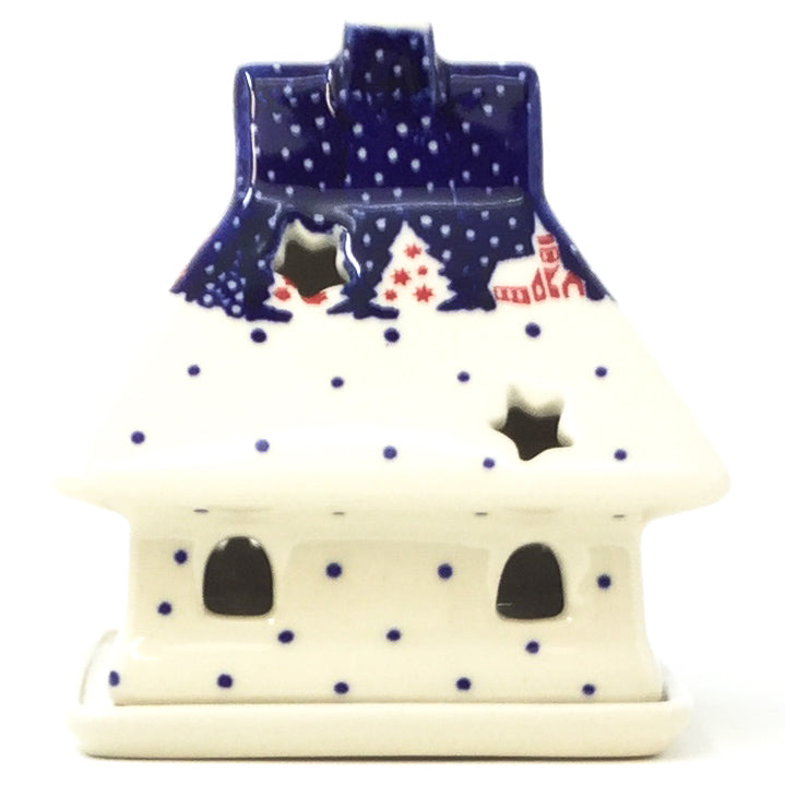 House Tea Candle Holder in Winter Village