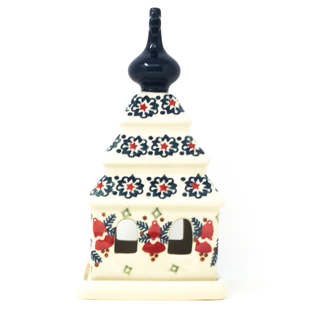 Church Tea Candle Holder in Christmas Bells