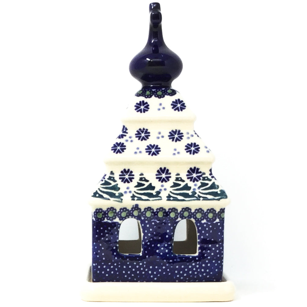 Church Tea Candle Holder in Christmas Trees