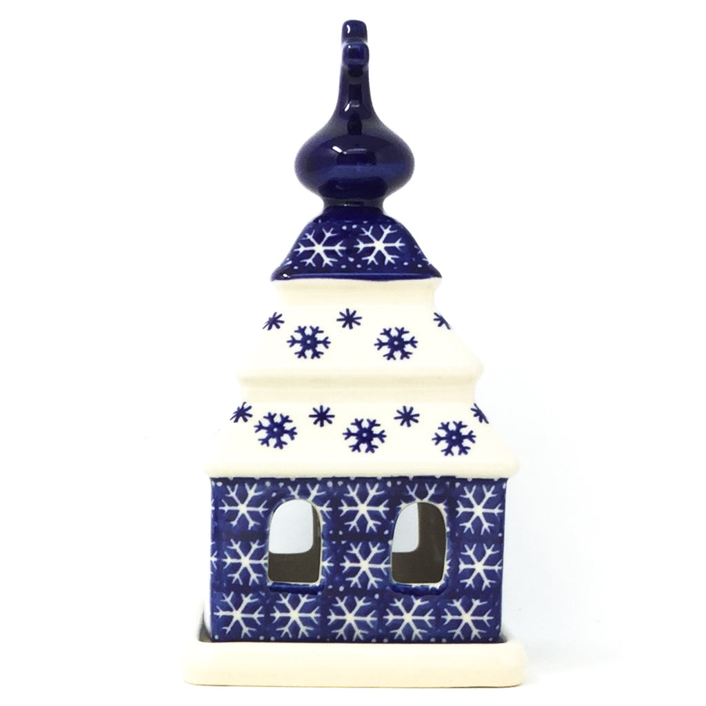 Church Tea Candle Holder in Snowflake