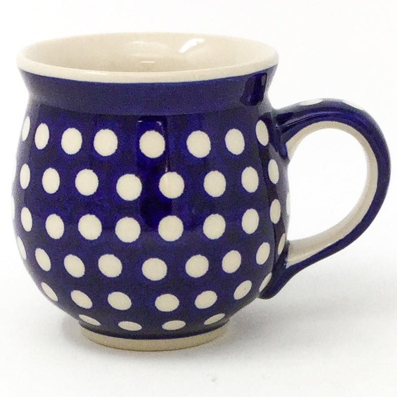 Polish Pottery Gentlemen's Cup 16 oz in White Polka-Dot White Polka-Dot