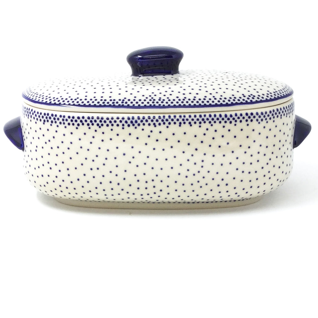 Polish Pottery Sm Covered Oval Baker 2qt in Simple Elegance Simple Elegance
