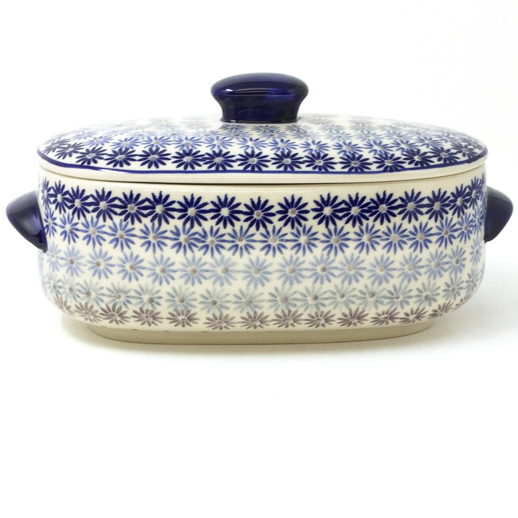 Polish Pottery Sm Covered Oval Baker 2qt in All Stars All Stars
