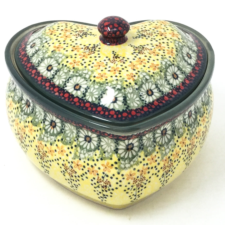Polish Pottery Heart Covered Server 2 qt in Cottage Decor Cottage Decor