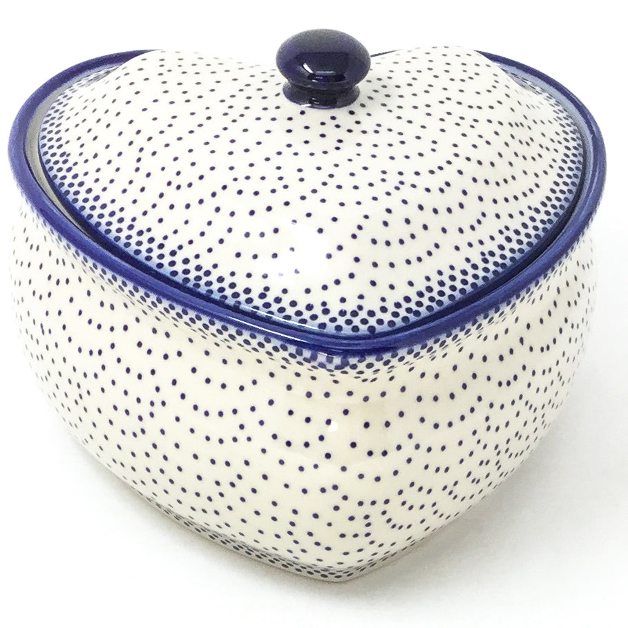Polish Pottery Heart Covered Server 2 qt in Simple Elegance Simple Elegance