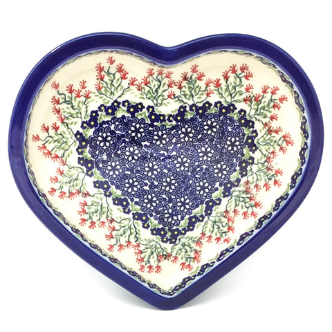 Polish Pottery Heart Server in Field of Flowers Field of Flowers
