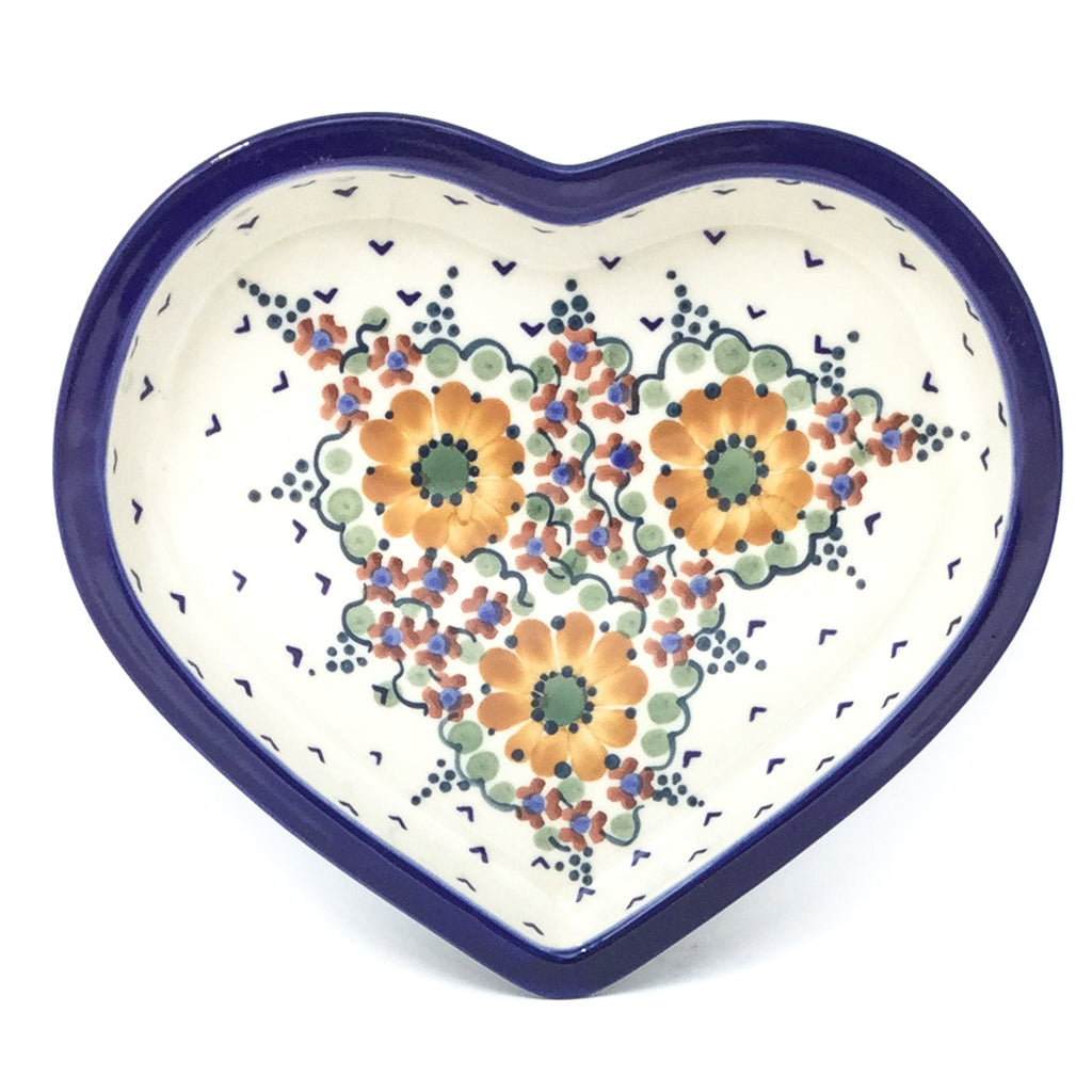 Polish Pottery Heart Server in Fall Fall
