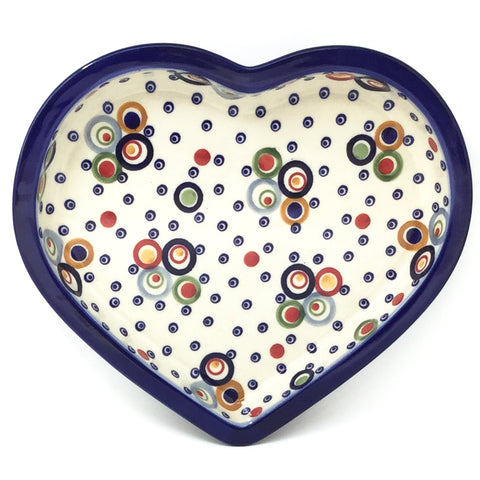 Polish Pottery Heart Server in Modern Circles Modern Circles