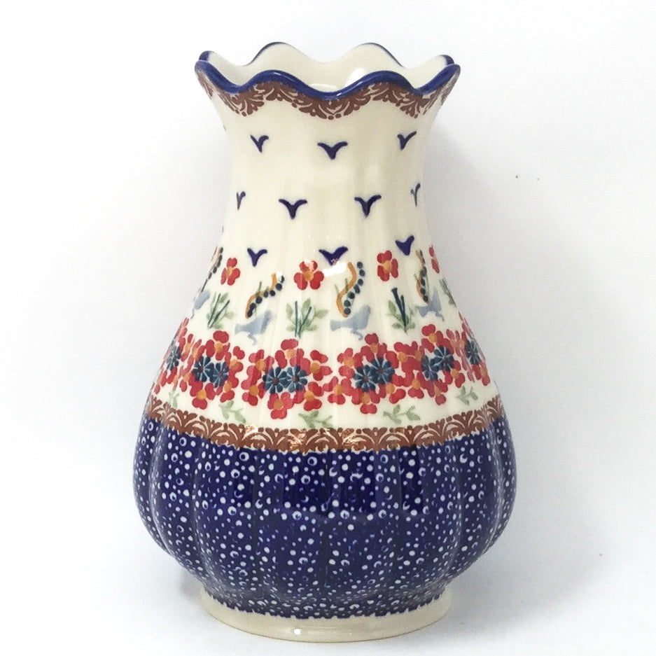 Polish Pottery Scalloped Vase in Simply Beautiful Simply Beautiful