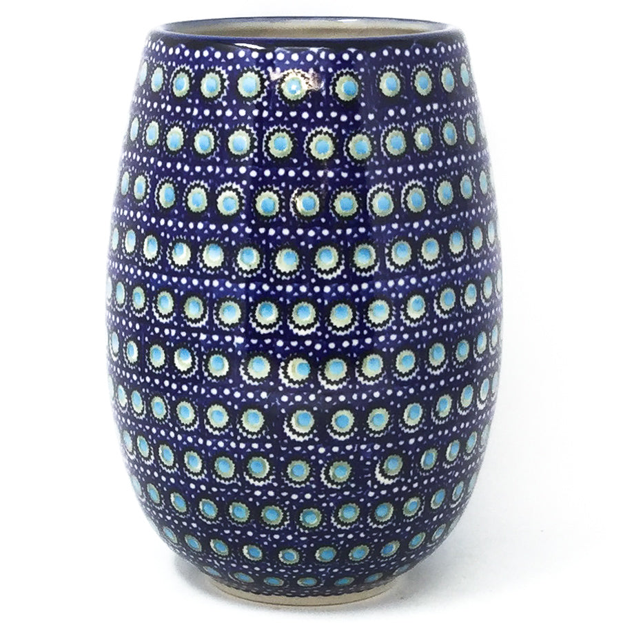 Polish Pottery Bouquet Vase in Blue Moon Blue Moon