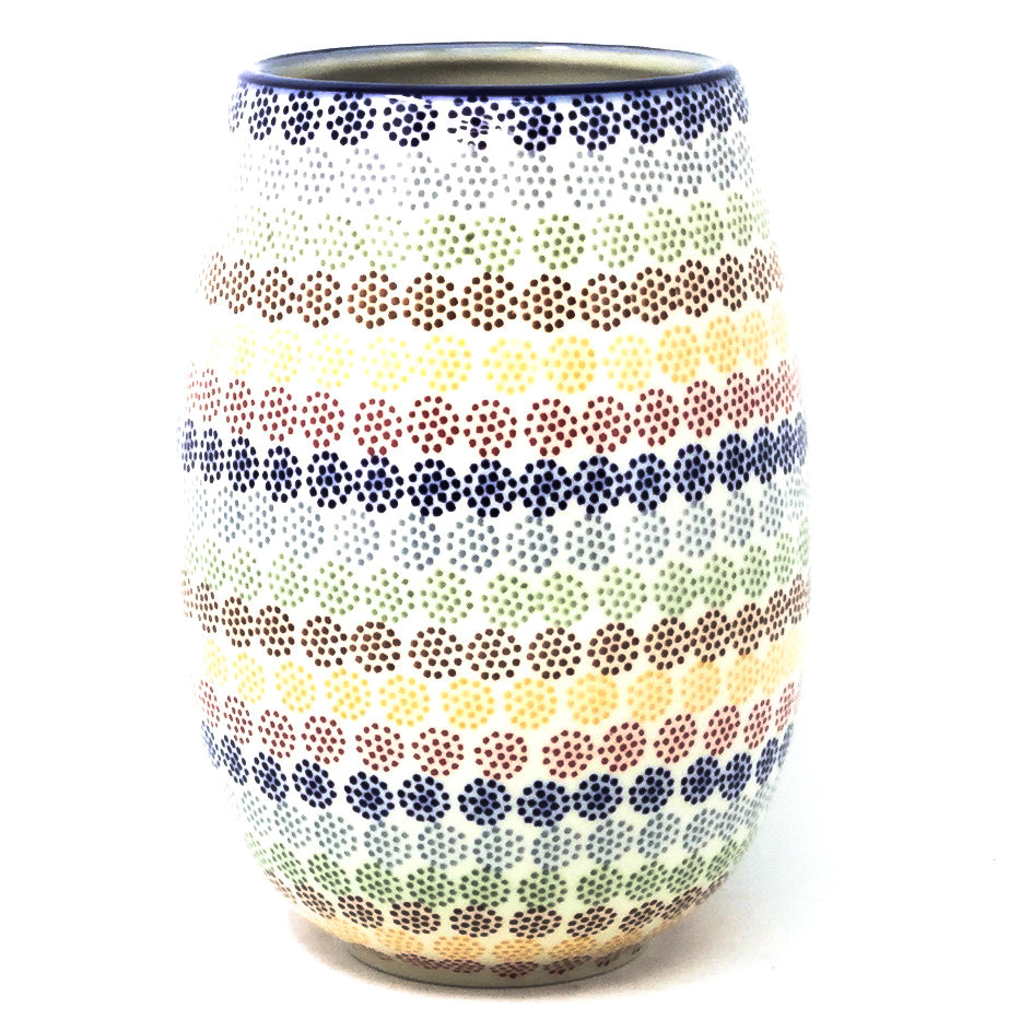 Polish Pottery Bouquet Vase in Modern Dots Modern Dots