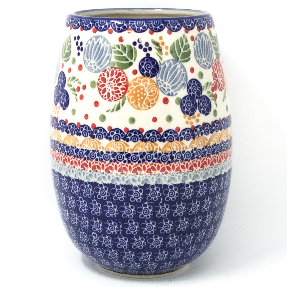 Polish Pottery Bouquet Vase in Modern Berries Modern Berries