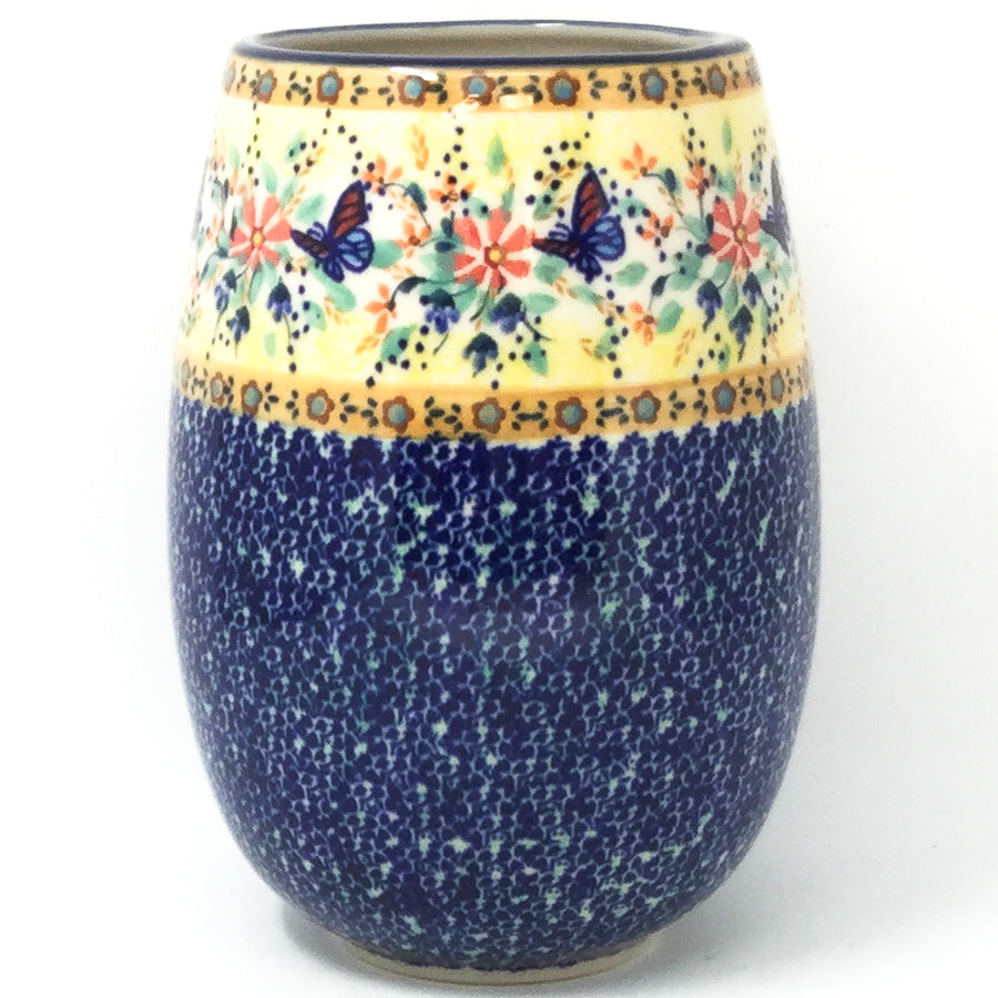 Polish Pottery Bouquet Vase in Butterfly Meadow Butterfly Meadow