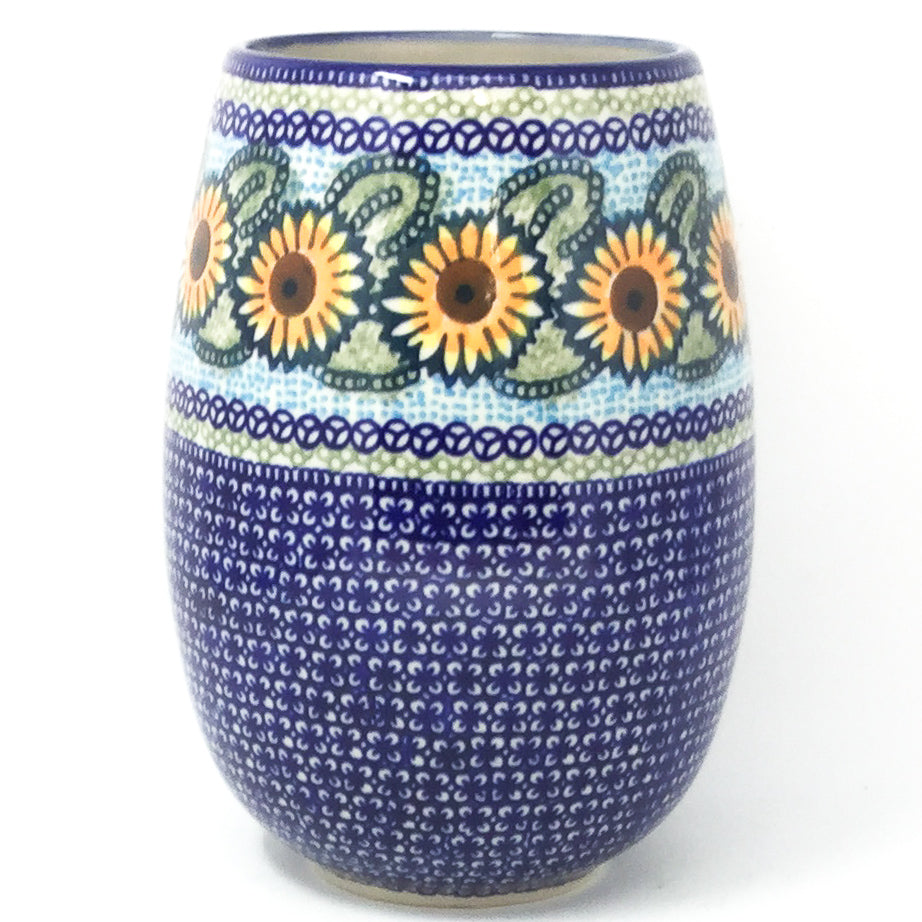 Polish Pottery Bouquet Vase in Sunflowers Sunflowers