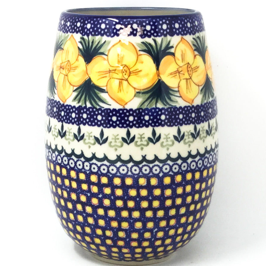 Polish Pottery Bouquet Vase in Daffodils Daffodils