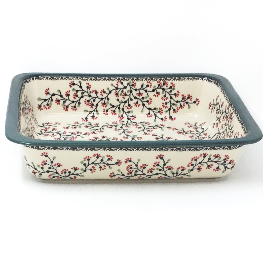 Polish Pottery Deep Rect. Baker in Japanese Cherry Japanese Cherry