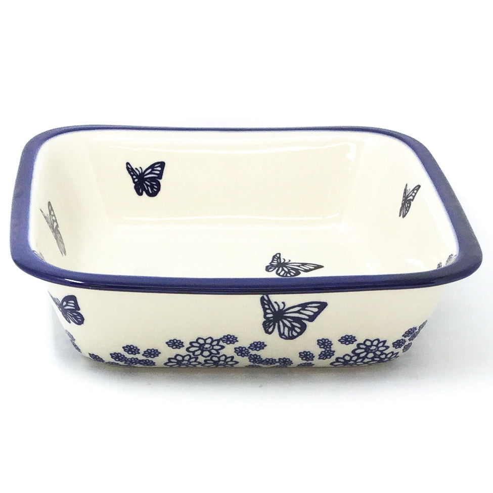 Polish Pottery Deep Square Baker in Butterfly Butterfly