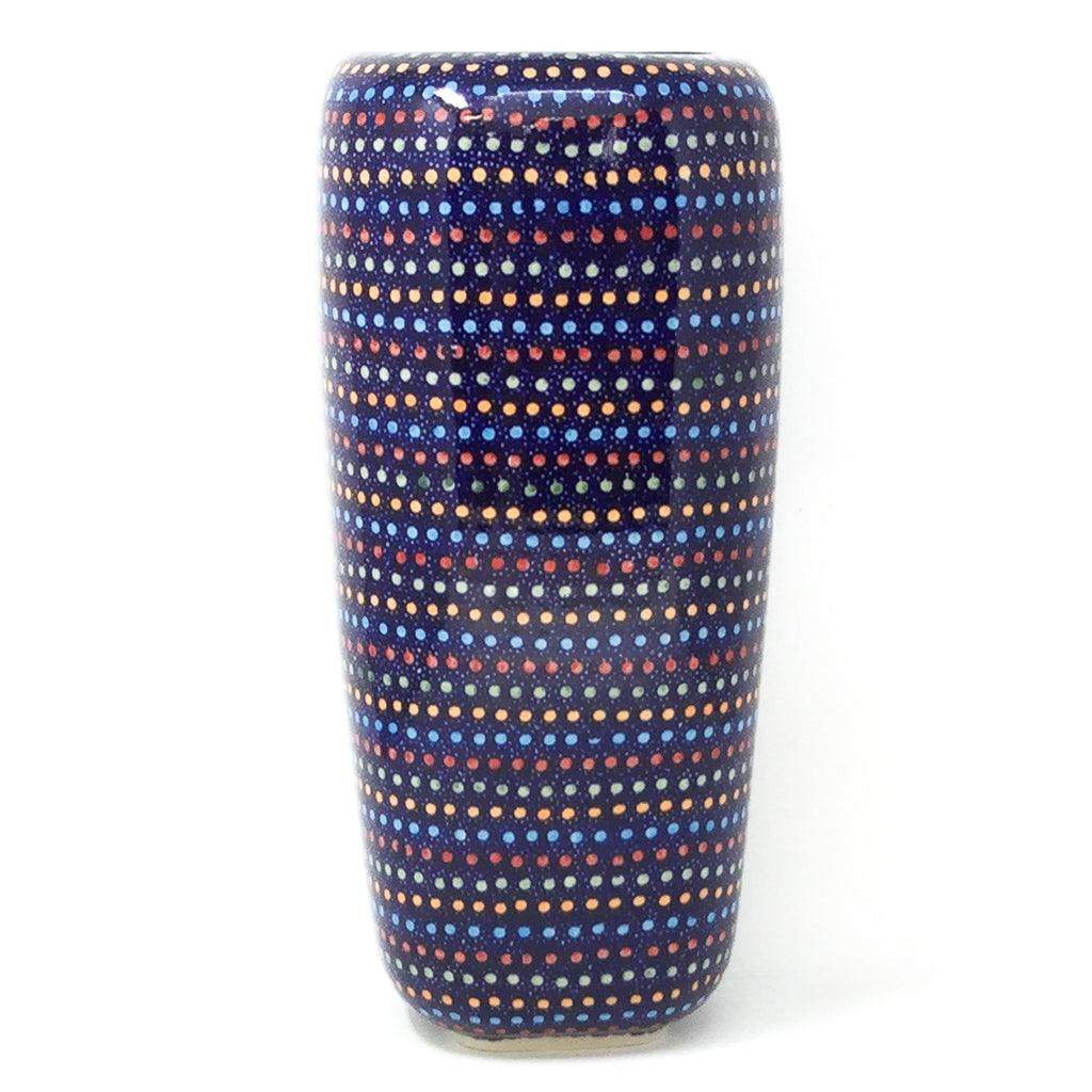 Polish Pottery Md Modern Vase in Multi-Color Dots Multi-Color Dots
