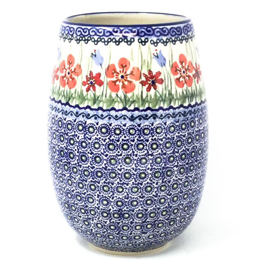 Polish Pottery Bouquet Vase in Spring Meadow Spring Meadow