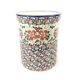 Polish Pottery Utensil Holder 2 qt (P-082S) Red Poppies