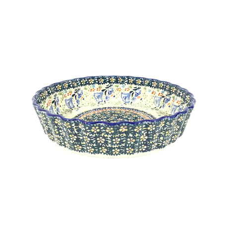 "Polish Pottery Sm Tart Baker 7.5"" (F-055) Autumn"