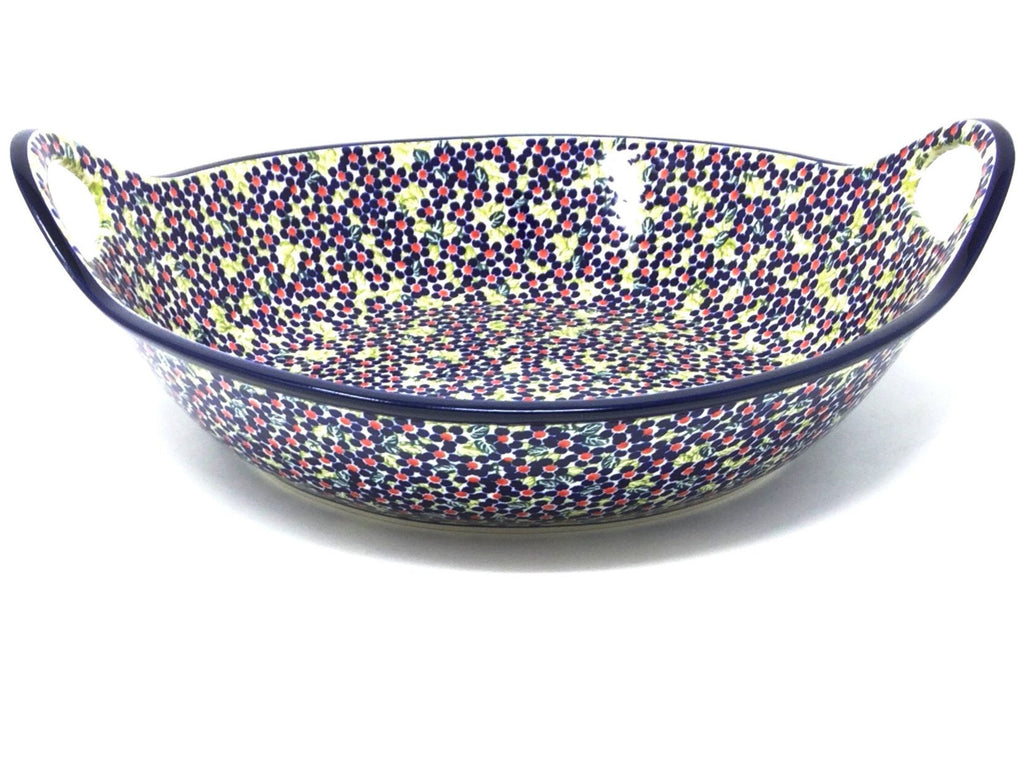 Polish Pottery Lg Bowl w/Seamless Handles DU206