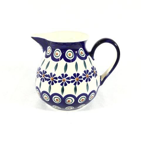Polish Pottery Family Style Creamer 16oz (D-024T) Peacock