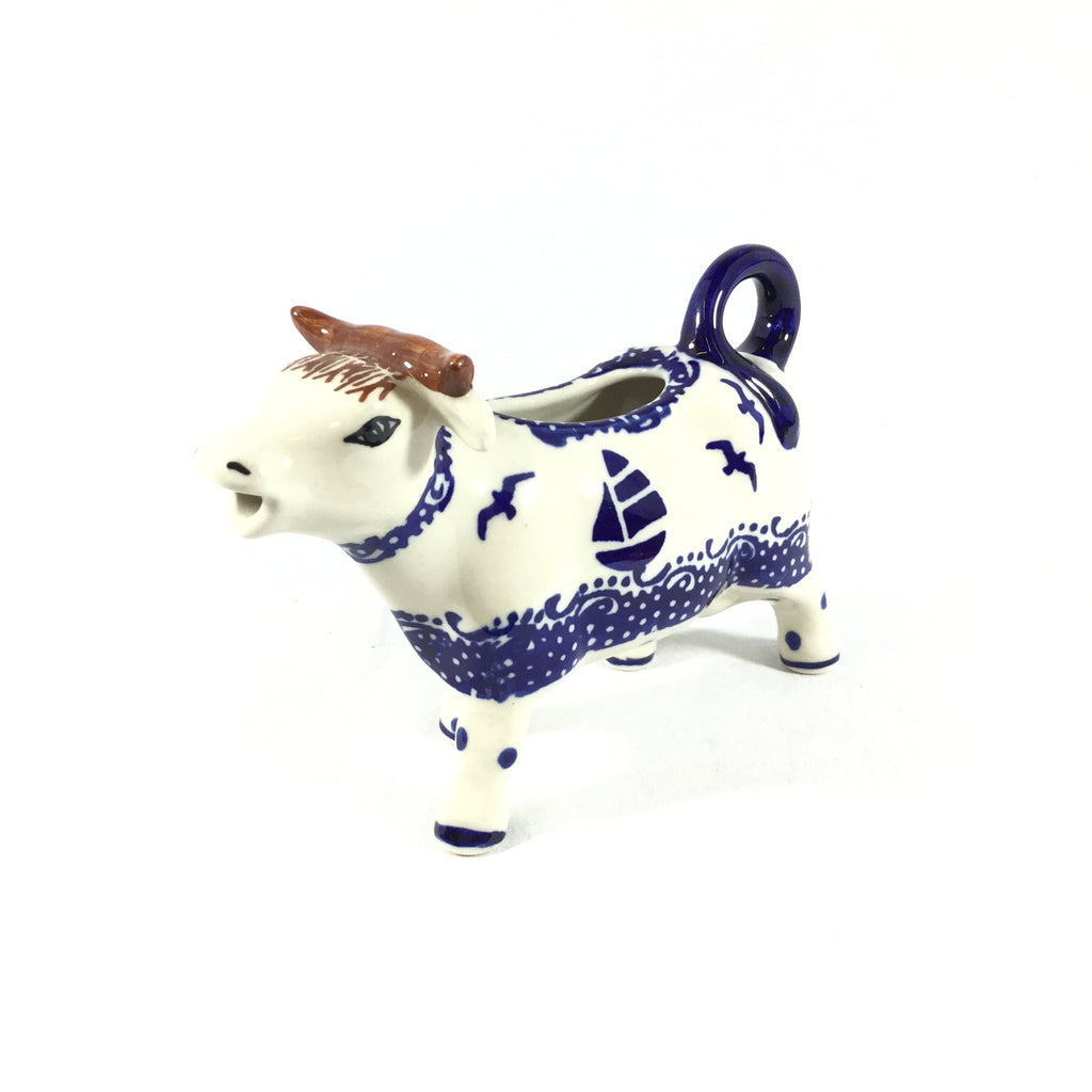 Polish Pottery Cow Creamer in Sailboat Sailboat