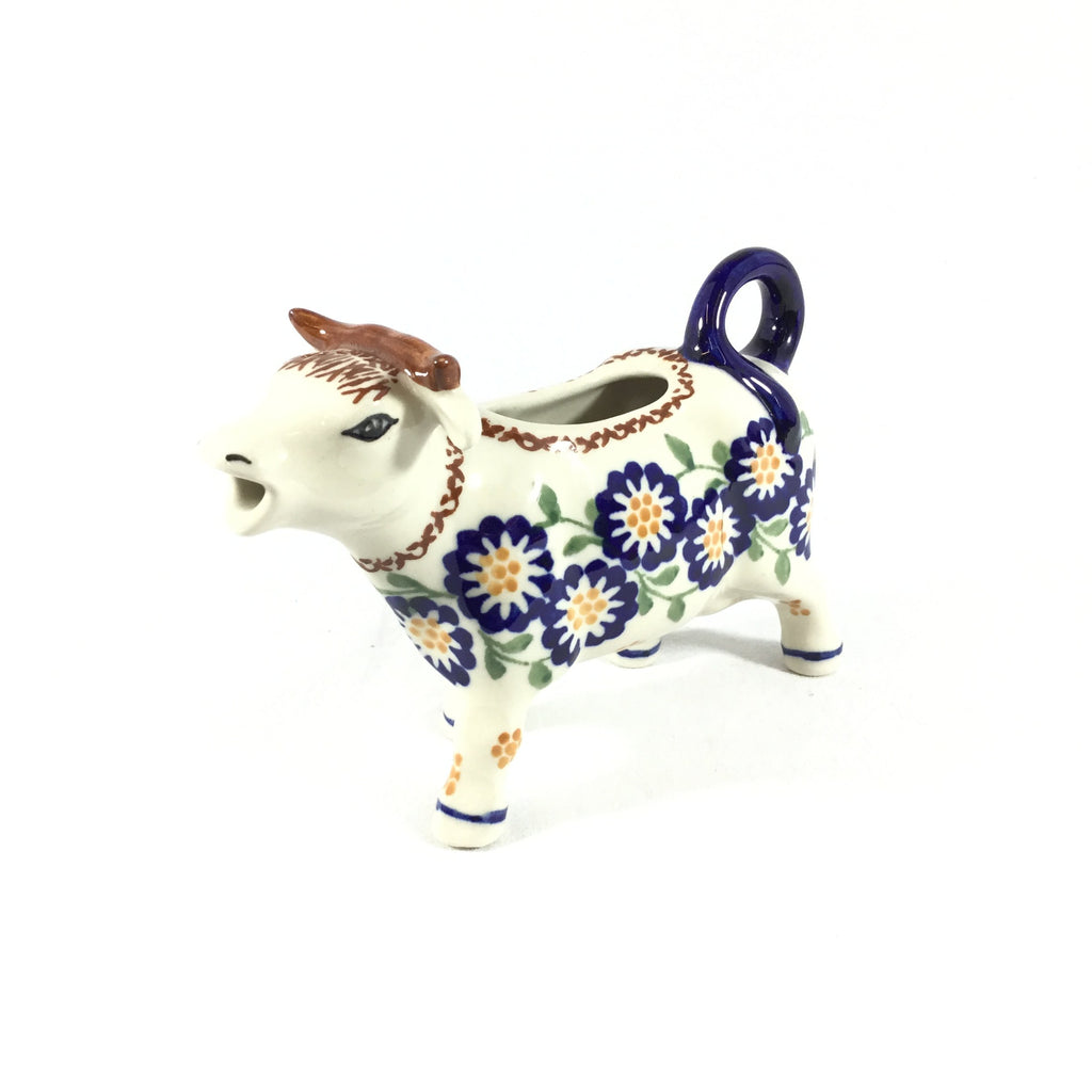 Polish Pottery Cow Creamer in Yellow Aster Yellow Aster